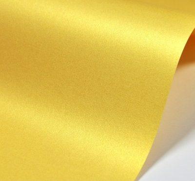 Картон металик А4 жълт/пъпеш 250г