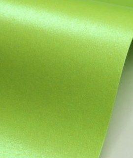 Картон металик 72/102 сатен зелен лайм А4 250г